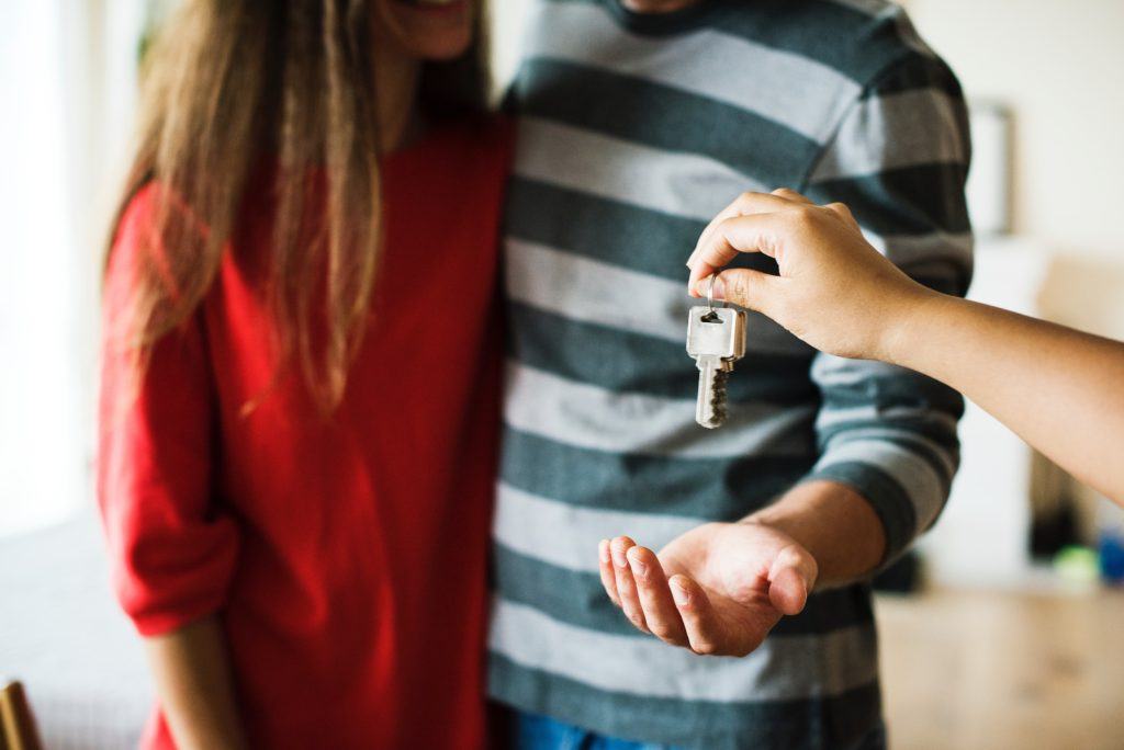 Keys to their new home